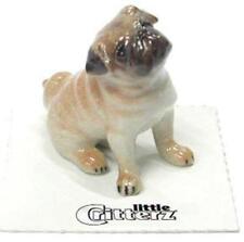 "Little Critterz Miniature Porcelain Animal Figure Pug Puppy ""Button"" LC815"
