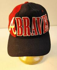 Vtg 90s MLB Starter ATLANTA BRAVES Wool Hat Cap Throwback Snapback