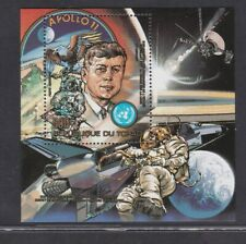 CHAD 1983 MNH PRESIDENT KENNEDY SPACE APOLLO 11 BADGE LUNAR ROVER SOUVENIR SHEET