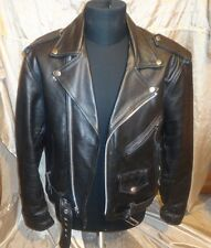 Vintage Rare!  SEA DREAM  Motorcycle Cruiser Punk Heavy Leather Jacket . Size 44