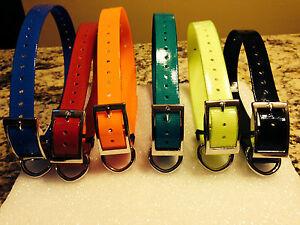 3 PAK  1 INCH Collar Sq Buckle, GREEN- BLACK- RED-Purple-Pink Sport Dog Collars