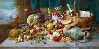 Large Still Life with Fruit Tile Mural Kitchen Bathroom Backsplash Ceramic 24x12