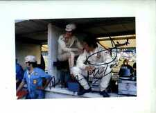 ICKX & Merzario FERRARI F1 Portrait British Grand Prix 1972 signé Photo 2