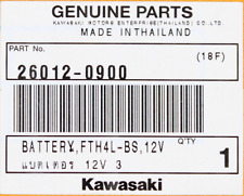 Genuine Kawasaki Battery FTH4L-BS, 12V PN 26012-0900
