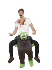 Mens Zombie Ride On Me Mascot Fancy Dress Carry Costume Piggy Back Outfit