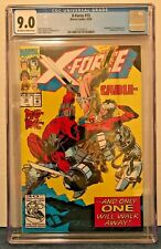 X-FORCE 15 CGC 9.0 O-W/WP 4TH FULL DEADPOOL APP. VS. CABLE COVER