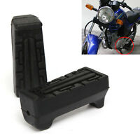 2X Black Front Foot Rest Peg Rubbers Footrest For Yamaha YBR 125 All Year