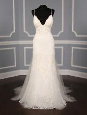 NEW Sexy Amsale Kalei M670 Lace Wedding Dress Blue Label Ivory 10 Retails: $5.5K