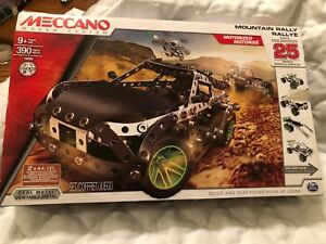 Meccano Motorized Mountain Rally Vehicle 25 Model Building STEM Construction Toy