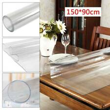 150x90cm Tischfolie 2mm Tischdecke Transparent Schutzfolie Klar Maß PVC
