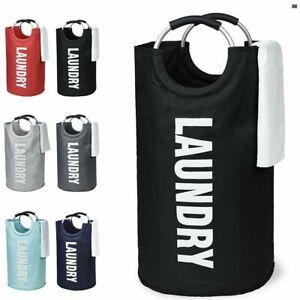 Collapsible Fabric Laundry Hamper, Foldable Clothes Bag, Washing Bin Basket (UK)