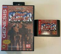 Sega Genesis - Super Street Fighter II - Game with Box (Hanger tag)