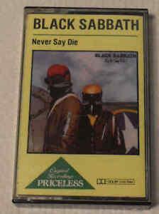 Black Sabbath - Never Say Die Vertigo Netherlands PRIMC 9 Cassette Tape Album