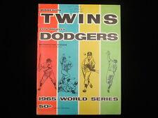 1965 World Series 2nd Game Program – Los Angeles Dodgers @ Minnesota Twins