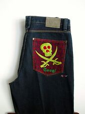 COOGI Australia Jeans 36 X 31 Skull Detail Dark Wash Mens Denim