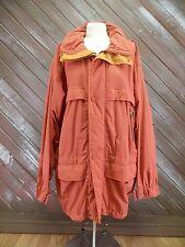 Timberland Jacket Coat Zip Up Orange Windbreaker Men's Size L