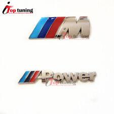 ///M + ///Power Emblem M Badge Sticker Metal Trunk Decal for BMW M-Series M3 M5