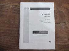 Topfield TF 7700 HCCI User Guide TOP !!! Reinschauen !!!