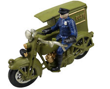 Green Parcel Post Harley Davidson Motorcycle Postman - Cast Iron Ornament