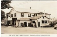 RP Blue Shutters Roadside Route 611 Elmhurst And Moscow PA Pennsylvania RPPC CP