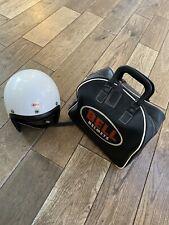 Vintage 1960s BELL 500 TX Toptex California Motorcycle Helmet 7 1/8  And Bag