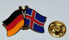 FREUNDSCHAFTSPIN PIN 0076 ANSTECKER DEUTSCHLAND/ ISLAND FAHNE BUTTON METALL PINS
