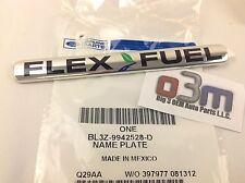 Ford Super Duty F-150 Rear Chrome Flex Fuel NAMEPLATE Emblem new genuine OEM