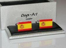 Mens Cufflinks - Spanish Spain Flag Design *New* Gift