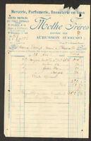 """AUBUSSON (23) MERCERIE , BONNETERIE , CARTES POSTALES """"MOTHE Freres"""" en 1932"""