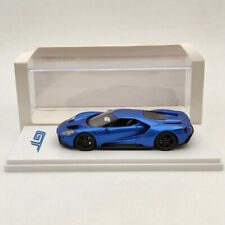 TSM 1:43 FORD GT Detroit Auto Show 2015 liquid blue Resin Models Limited Used
