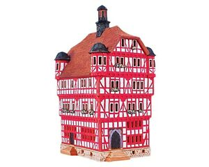 Ceramic Tealight Holder Collectible Miniature Town Hall in Melsungen 26 cm