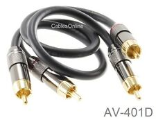 1-ft High Quality Dual RCA Male to Male Coax Audio Cable, CablesOnline AV-401D