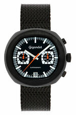 Gigandet Supergraph Herren Quarz Armbanduhr Chronograph Analog Schwarz G11-005