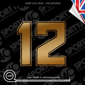 SENNA No.12 Vinyl Decal Sticker NUMBER 12 SENNA LOTUS F1 JPS Racing 2531-0320
