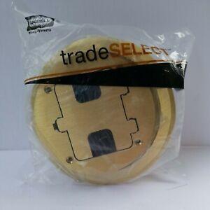 HUBBELL TRADE SELECT RF406BR SOILD BRASS FLOOR BOX TRIM KIT f98