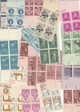 OAS-CNY 17 PLATE BLOCKS (15-16+ SEE PICTURE) 1940-1960 95%+ MINT NEVER HINGED