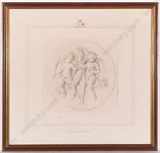"""Jakob Krauth """"Project for Bas-Relief"""", Drawing from Royal Property, ca.1870"""