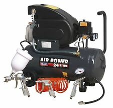 Sealey Compressor 24ltr Direct Drive 2hp with 4 Piece Air Accessory Kit