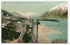 Treadwell Gold Mines Douglas City Juneau in Distance Alaska 1910c postcard