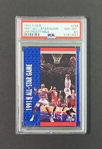 1991 Fleer #238 All-Star Game Unforgettable Michael Jordan Graded PSA 8.5 NM-MT+