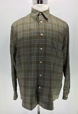 Johnnie Walker Plaid Casual Shirt Men's Large Gold, Green, Red, White