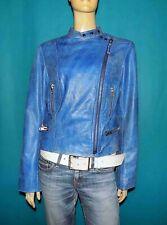 veste LA FERIA en cuir de buffle bleu vieilli taille L ou 40 fr