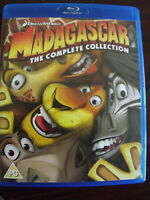 Dreamworks Madagascar the Complete Collection 3 Blu-Rays Region ABC  M FACT 2013