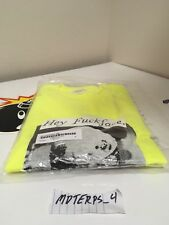 Supreme Hey Fuckface Ss18 Bright Yellow T Shirt Size Medium DS Authentic