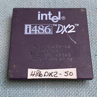 Intel i486 DX2-50 CPU Processor A80486DX2-50 Vintage Computer 1992 Gold Pins