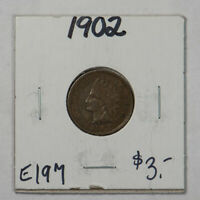 1902 1c INDIAN HEAD SMALL CENT LOT#E197