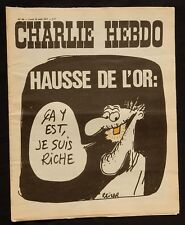 "* Revue CHARLIE HEBDO n°40 Lundi 23 Auoût 1971 ""Hausse de l'Or"""