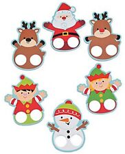 Pack of 12 - Christmas Finger Puppets - Party Bag Stocking Fillers