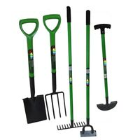 Gardening Tool Set Carbon Steel Heat Treated Rake Fork Hoe Spade Edging iron-U.K