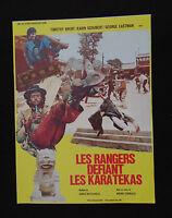 LES RANGERS DEFIANT LES KARATEKAS photo scenario film 1970s KUNG FU karaté